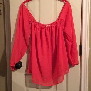 Liberty love Salmon pink sheet blouse